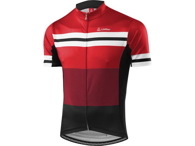 Löffler Giro Bike Jersey Full-Zip Herren rot